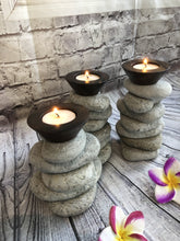 Pebble Stone Candle Holders set of Three