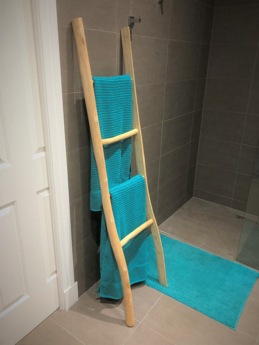 Natural Wooden Towel Rack/Rail Ladder