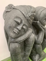 Large Balinese Dreaming Couple Garden Statues