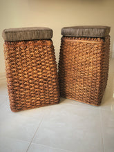 Water Hyacinth Stool with Seat Pad 10201