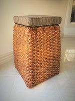 Water Hyacinth Stool with Seat Pad