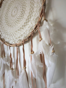 Round Boho Rattan Macrame dream Catcher