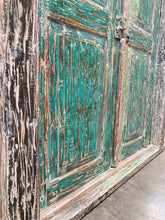 Reclaimed TEAK Original Antique Balinese Entrance Doors and Frame