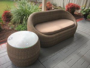 FUSION 3 Seater Wicker Lounge Outdoor Setting 10212