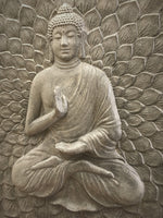 Praying Buddha Outdoor wall Plaque