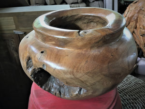 Hand Crafted Natural Teak Wood Decorative Bowl