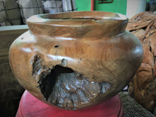 Load image into Gallery viewer, Hand Crafted Natural Teak Wood Decorative Bowl