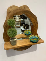 Natural Suar Framed Mirror