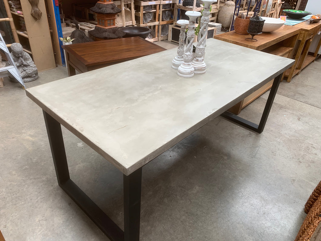Contemporary 8 Seater Concrete Dining Table