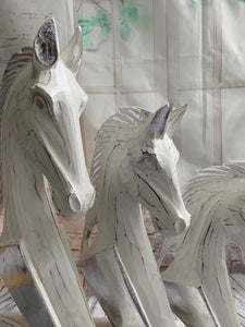 Set of Three Decorative Horse heads