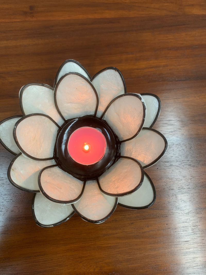 Lotus Flower Tea Light Candle Holder