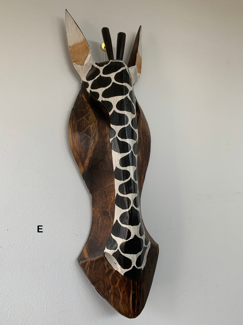 Hand Carved Wooden Antelope Masks