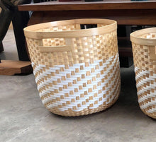 Load image into Gallery viewer, Bamboo and Synthetic Basket Planters