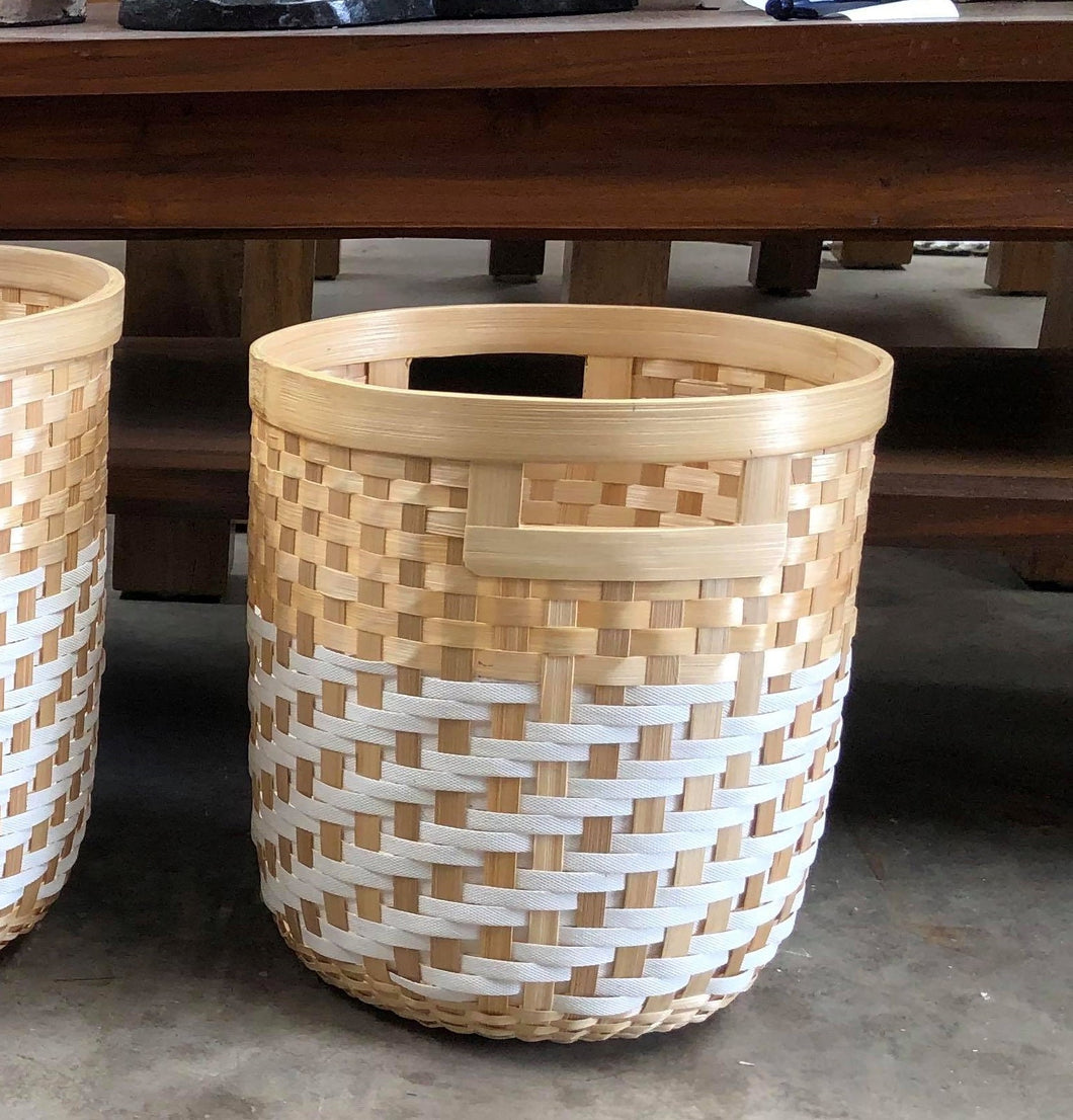 Bamboo and Synthetic Basket Planters
