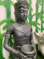 Kneeling Thai Buddha Statue with Lotus Bowl Garden Statue