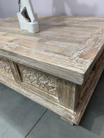 Coastal White Wash Coffee Table