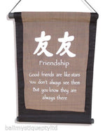 Balinese FRIENDSHIP Affirmation Flag Scroll Hanging