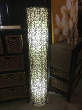 Balinese Woven Rattan Wicker Floor Lamp