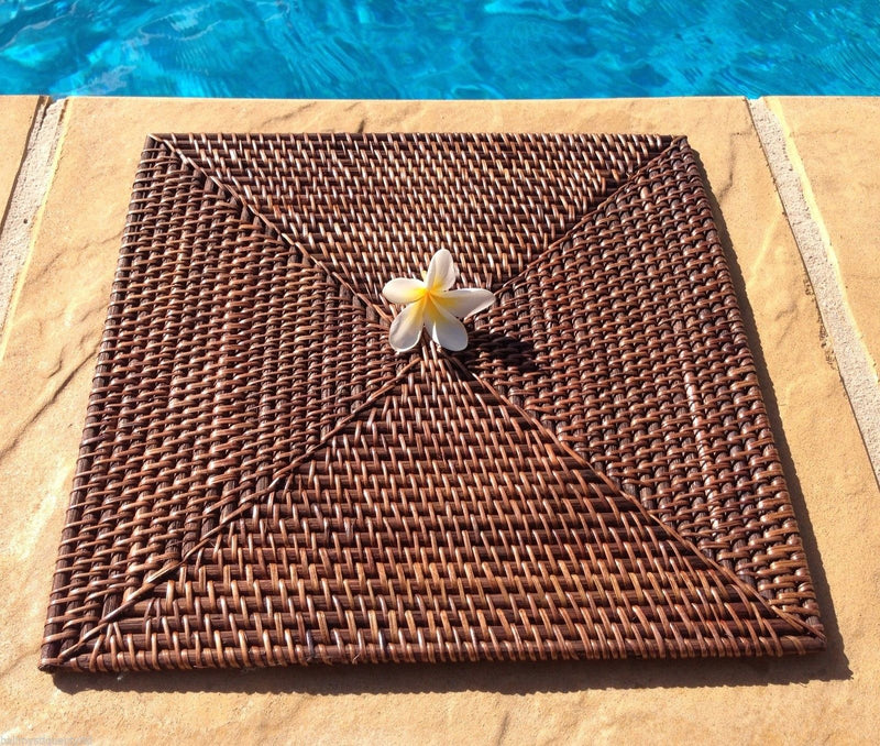 Balinese Square Rattan Cane Placemat