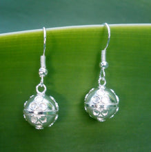 Stirling Silver Plated 925 Balinese Harmony Ball Earrings Gift Boxed #1111