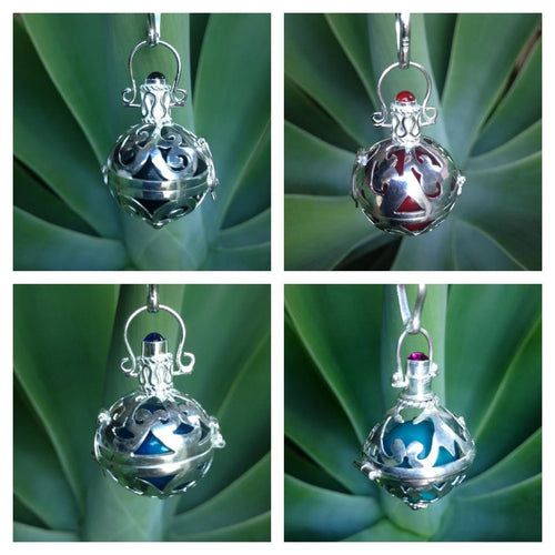 Balinese Stirling Silver 925 Harmony Ball Chime Pendant and Necklace #1112