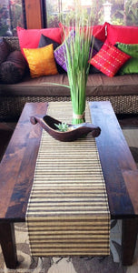 Balinese Striped Lidi Stick Table Runners/Placemats with Fringe #1115