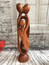 Balinese Abstract Unity Wood Carving Family Love Sculpture