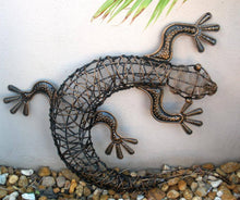 Balinese Rattan Gecko Lizards Wall Art