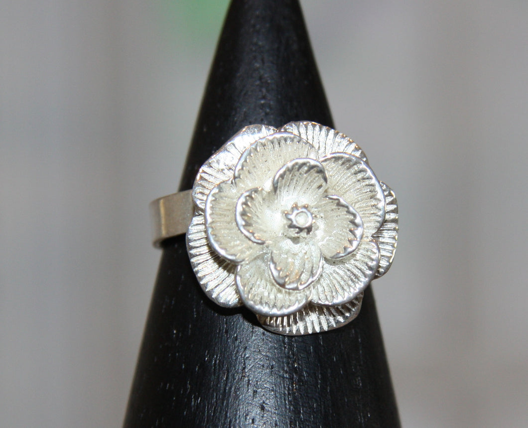Silver Plated Rose Dress Ring