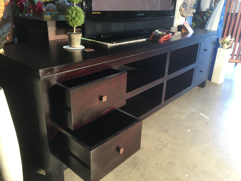 Balinese Mahogany CD TV DVD Stand Console