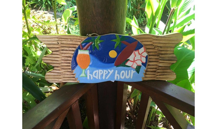 Balinese HAPPY HOUR Sign #1317