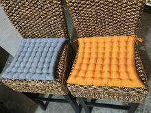 Balinese Brown Cotton Chair Cushion Pads with Ties