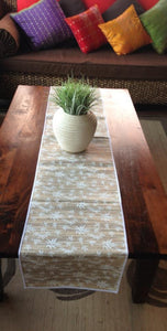 Balinese Large Coconut Fibre Table Runner Bamboo Leaf Design