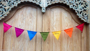Balinese Colourful Hope Faith Love Happiness Believe Dream Peace Bunting
