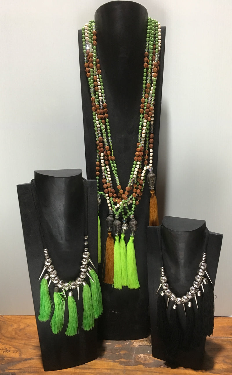 Balinese Black Timber Jewellery Necklace Display Stands