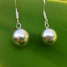 Stirling Silver Plated 925 Balinese Plain Harmony Ball Earrings Gift Boxed-#1436