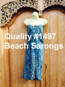 Quality Bali Print Beach Sarongs With Coconut Buckles #1497