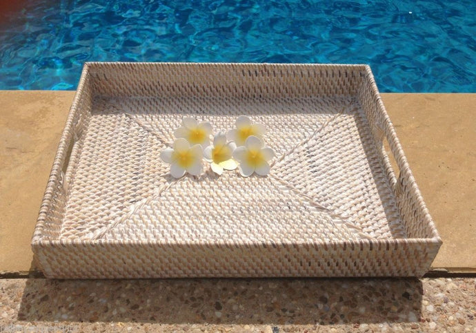 Balinese Rectangle Rattan Cane Serving Tray