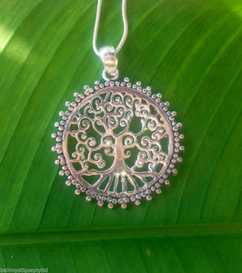 Balinese Sterling Silver 925 Plated Tree of Life Pendant N'lace