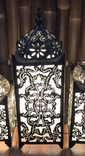 Balinese Masjid Metal & White Fabric Table Lamp