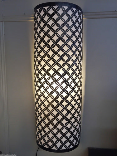 Moroccan Metal Wall Sconse Light Shade with Cream Insert #1677