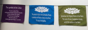 Balinese Symbol of the lotus Prayer Flag affirmation Hanging
