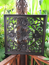 Balinese Hand Carved Timber Decorative Flower Wall Hanging Panel #1720
