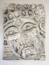 Balinese Buddha Face Solid Wood Carving Plaque