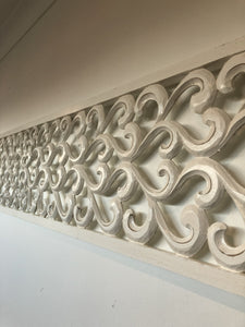 Rectangular Carved Timber Wall Panel