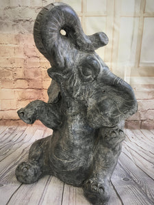 Terracotta Happy Elephant Statue