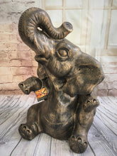Terracotta Happy Elephant Statue #1799