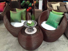 Balinese Cane Alfresco Tub Chairs & Coffee Table Patio Setting #1813