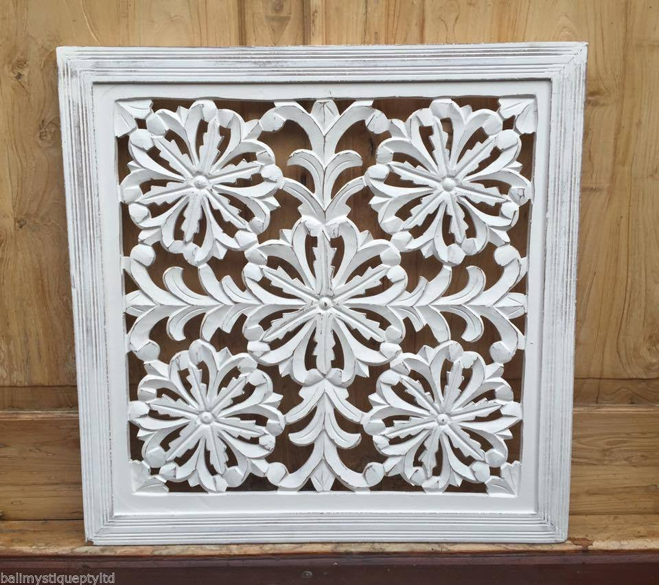 Whitewash Wooden Timber Decorative Wall Hanging Panel #1817