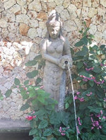 Balinese GreenStone Dewi Sri Rice Goddess Water feature